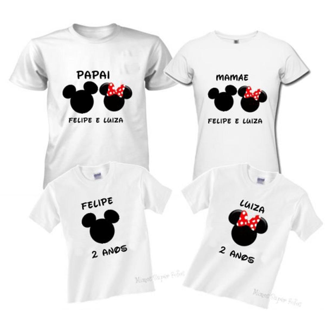 Kit Camisetas Para Família. Camisetas Personalizadas 60152199050